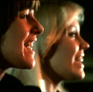 Agnetha and Frida in a typical profile shot.