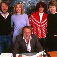 ABBA with their trusted manager Stig Anderson in 1981.