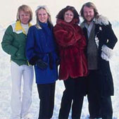 ABBA on location in Switzerland, where the promo clip for Chiquitita was videotaped.