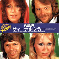 The Japanese single sleeve of 'Summer Night City' – the B-side was a remixed version of the folk medley.