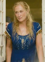 Meryl Streep as Donna in the Mamma Mia! movie.