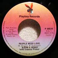 In the United States, People Need Love was released on the Playboy label.