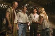 Stellan Skarsgård, Pierce Brosnan and Colin Firth with Amanda Seyfried.