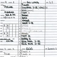 The original recording sheet for So Long.