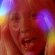 Agnetha giving her all in the Summer Night City clip.