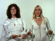 Frida and Agnetha made an impression on audiences in the Mamma Mia promo clip.