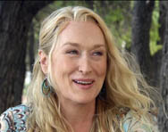 Meryl Streep was interviewed on location for the