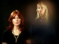 Frida and Agnetha in Lasse Hallström's promo clip for Knowing Me, Knowing You.