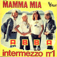 France went for a yellow look on their Mamma Mia single sleeve.