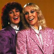 Agnetha and Frida in the video for Happy New Year.