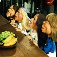 The four ABBA dolls were created by Jim Henson's Creature Shop.