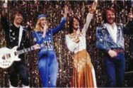 ABBA dressed up in their Waterloo costumes in the Hovas vittne video.