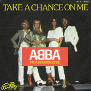 Take A Chance On Me – the French single.
