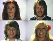 The Take A Chance On Me video featured the ABBA members flirting with each other in a split screen.