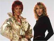 Frida and Agnetha in the Head Over Heels video.