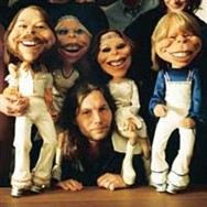 Director Calle Åstrand with the ABBA dolls.