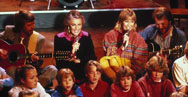 For I Have A Dream, ABBA were joined onstage by a large group of children.