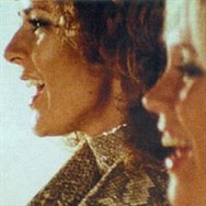 Frida and Agnetha in the Ring Ring promo clip, one of the first such films ABBA made.
