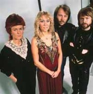 ABBA on the set for the One Of Us video.