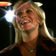 Agnetha taking on the part of the dancing queen.